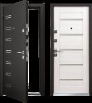 Дверь Mastino Terra (Ponte) Черный ШелкD1-два цвета панелей